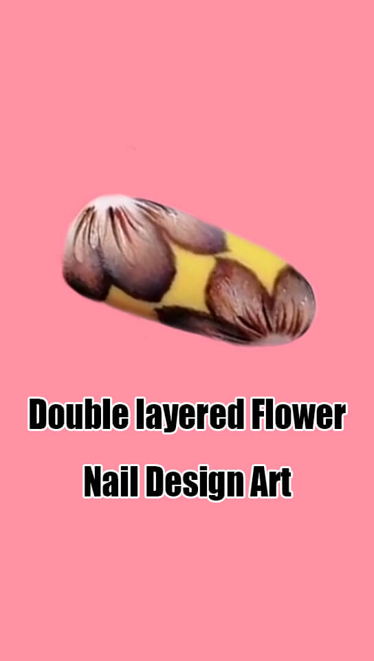 10 Step by Step Double Layered Flower Nail Art Ideas 9