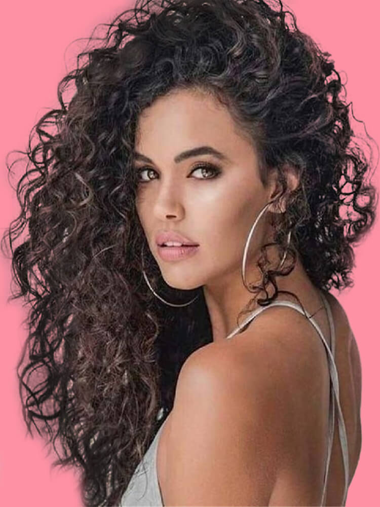 10 Stunning Long Curly Thick Hairstyles Designs in this Summer 7