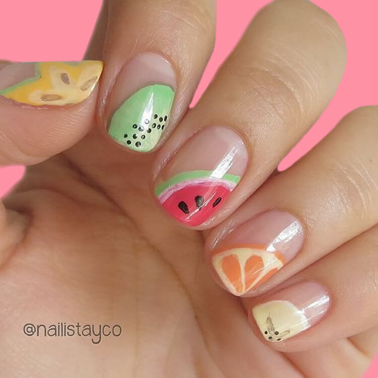 20 Cool Summer Fruit Nail Art Ideas to try 13