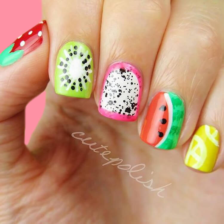 20 Cool Summer Fruit Nail Art Ideas to try 18