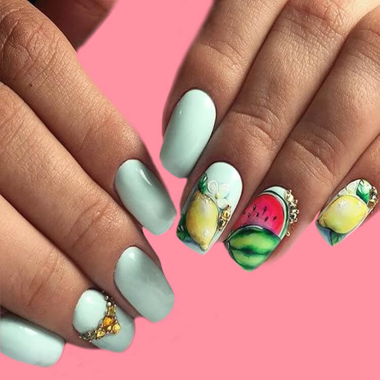 20 Cool Summer Fruit Nail Art Ideas to try 6