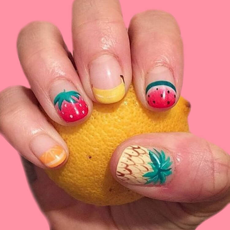 20 Cool Summer Fruit Nail Art Ideas to try 7