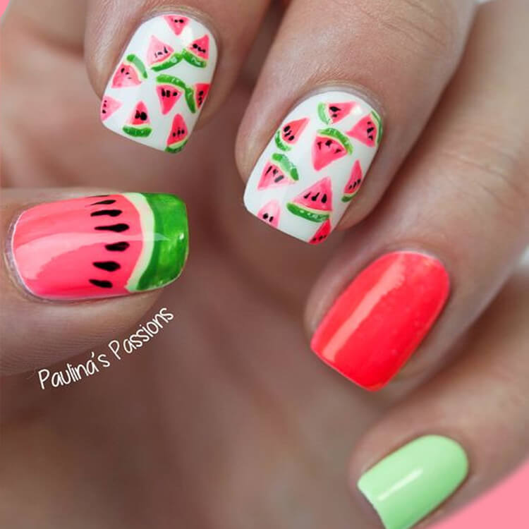 20 Cool Summer Fruit Nail Art Ideas to try 8
