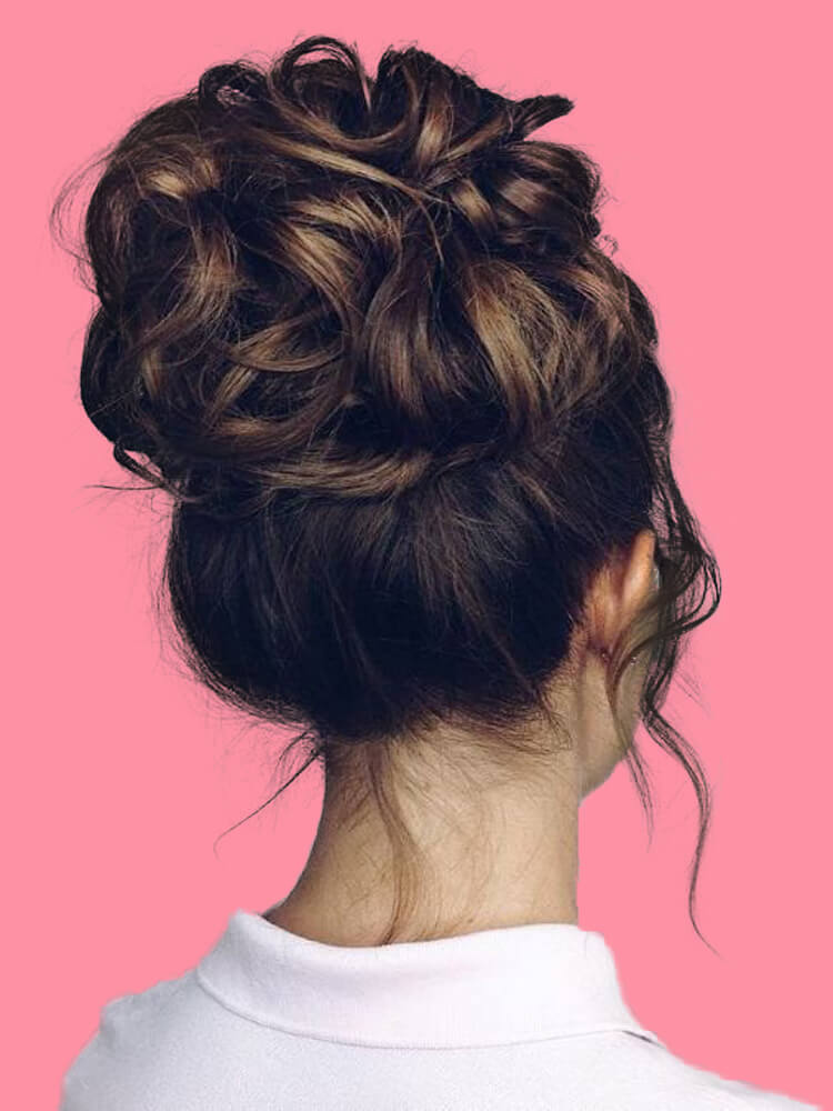 25 Stunning High Bun Up Do Hairstyle Ideas for Prom and Wedding 20