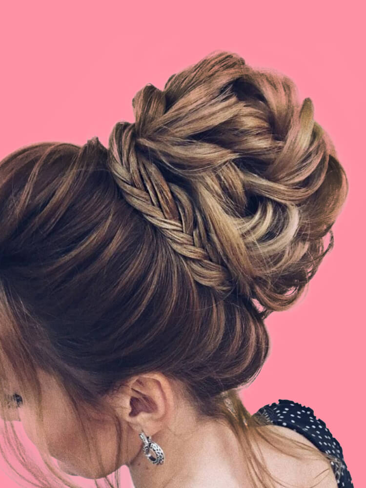 25 Stunning High Bun Up Do Hairstyle Ideas for Prom and Wedding 25