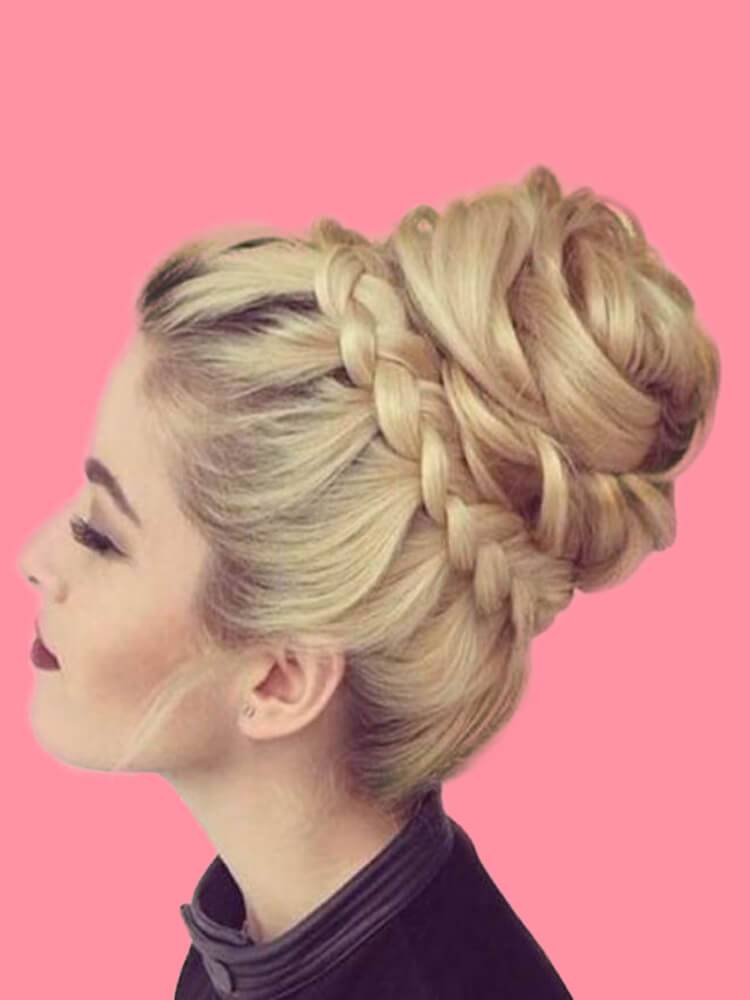 25 Stunning High Bun Up Do Hairstyle Ideas for Prom and Wedding 4