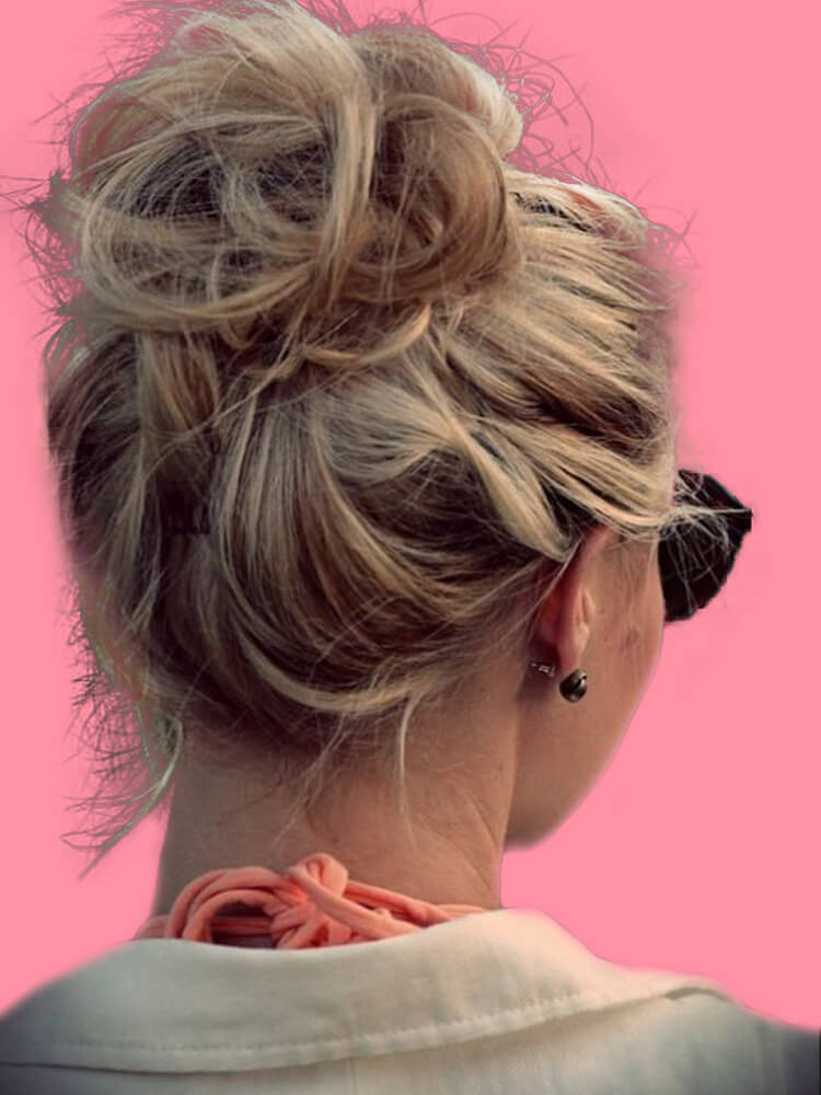 25 Stunning High Bun Up Do Hairstyle Ideas for Prom and Wedding 8
