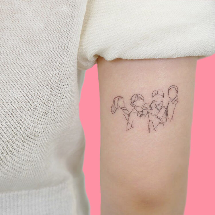 30 Simple Strokes Tattoos Art Designs to try 16
