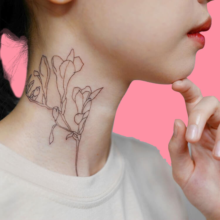 30 Simple Strokes Tattoos Art Designs to try 17