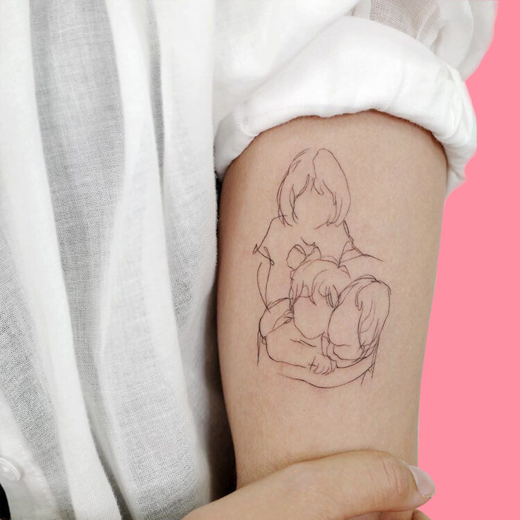 30 Simple Strokes Tattoos Art Designs to try 19