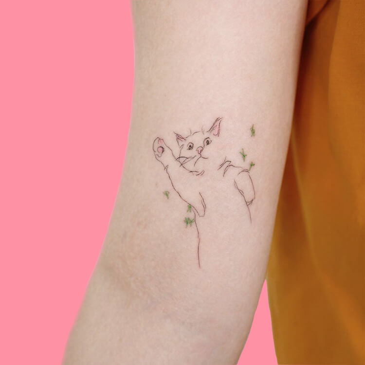 30 Simple Strokes Tattoos Art Designs to try 23