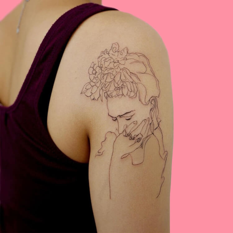 30 Simple Strokes Tattoos Art Designs to try 24