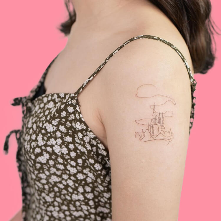 30 Simple Strokes Tattoos Art Designs to try 25