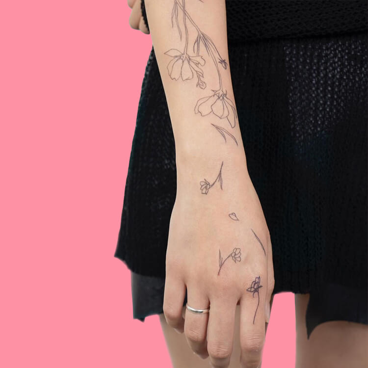 30 Simple Strokes Tattoos Art Designs to try 26