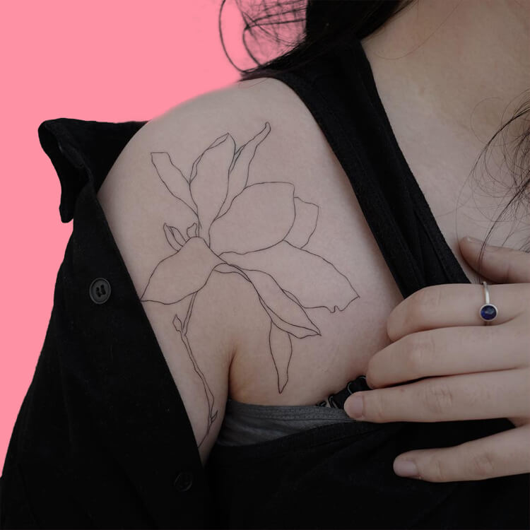 30 Simple Strokes Tattoos Art Designs to try 28