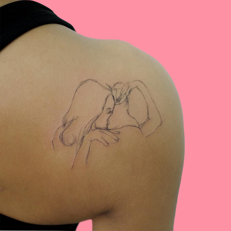30 Simple Strokes Tattoos Art Designs to try 6