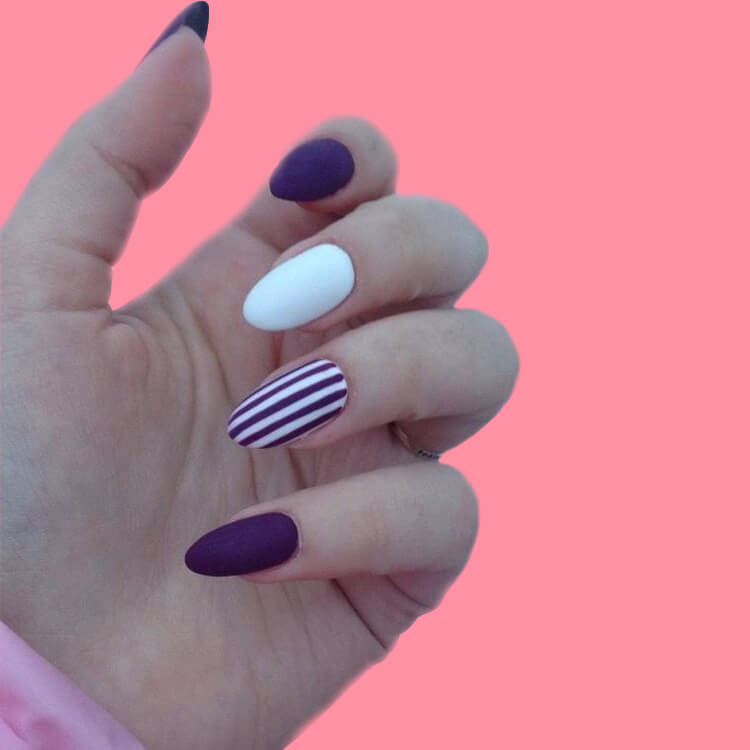 36+ Simple Strips Line Nail Art Designs to try 29