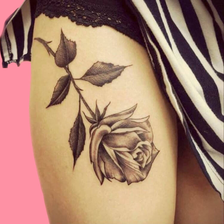 45+ Romantic Rose Tattoo Ideas to try for lady beauty 37