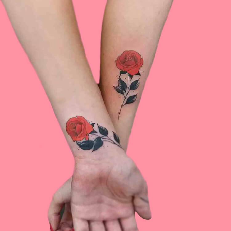 45+ Romantic Rose Tattoo Ideas to try for lady beauty 42