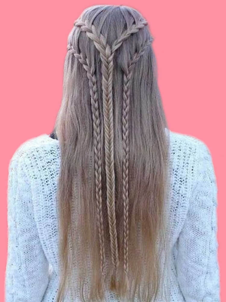 Attractive Dutch Braid Hairstyles Designs to try for ladies 1