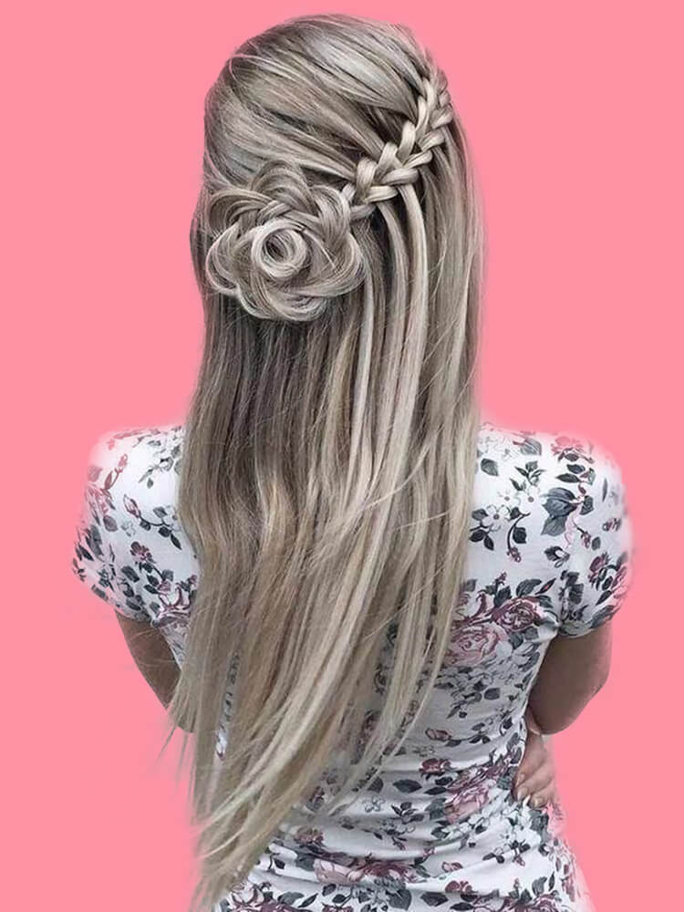 Attractive Dutch Braid Hairstyles Designs to try for ladies 13