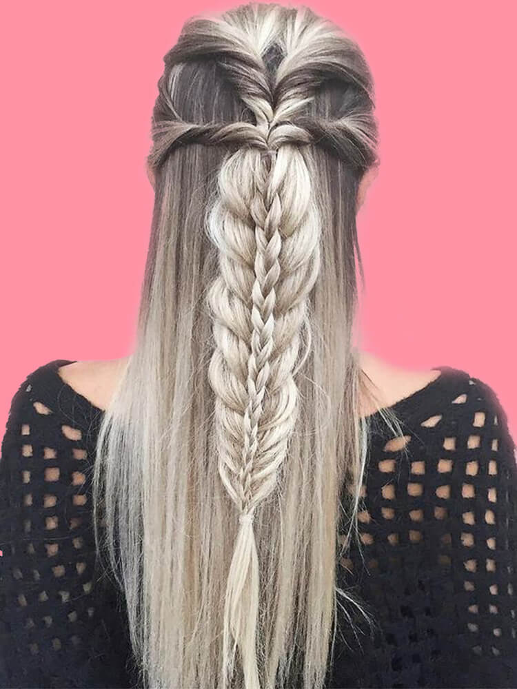 Attractive Dutch Braid Hairstyles Designs to try for ladies 14