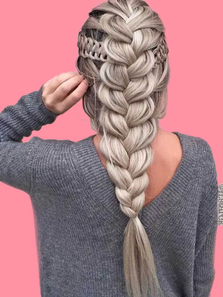 Attractive Dutch Braid Hairstyles Designs to try for ladies 19