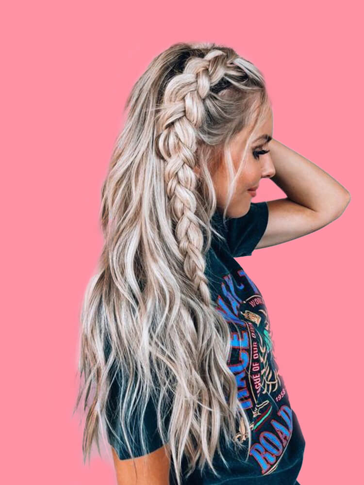 Attractive Dutch Braid Hairstyles Designs to try for ladies 22