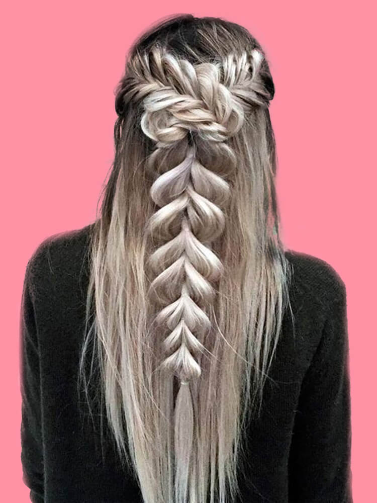 Attractive Dutch Braid Hairstyles Designs to try for ladies 28