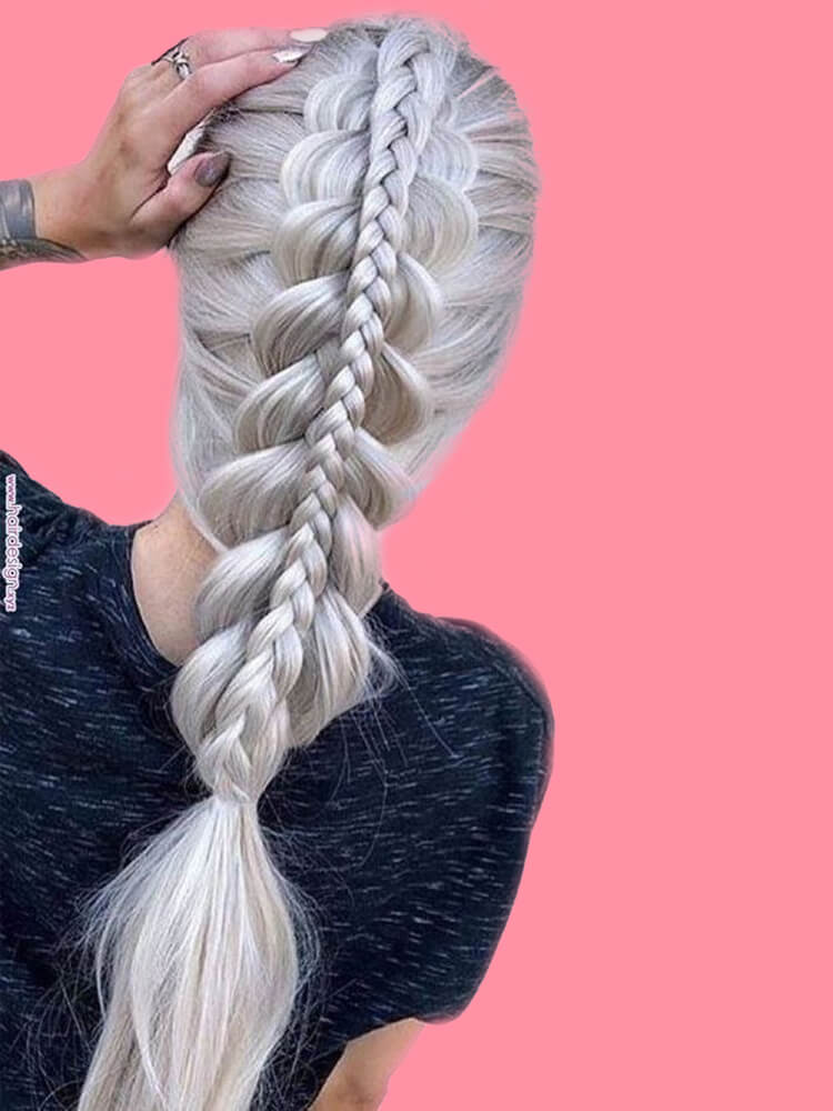Attractive Dutch Braid Hairstyles Designs to try for ladies 9