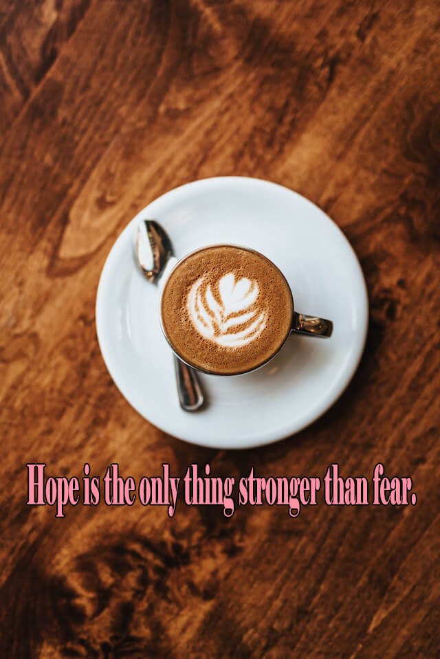 Quotes: Hope is the only thing stronger than fear.