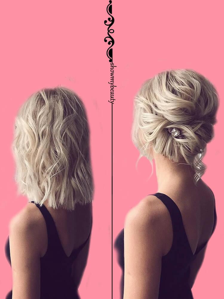 15 Best Wedding Hairstyles for Short Hair 13