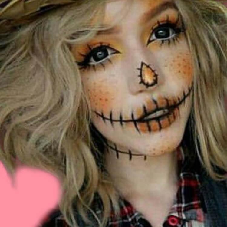 15 Creepy and Freaky VooDoo Doll Halloween Makeup Ideas 2