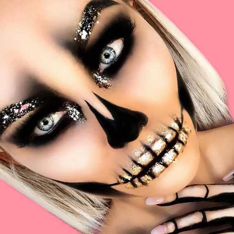 15 Creepy and Freaky VooDoo Doll Halloween Makeup Ideas 3