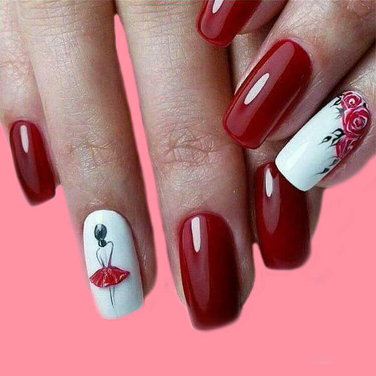 20+ Elegant Beauty Nails Acrylic Nail Designs to try 1