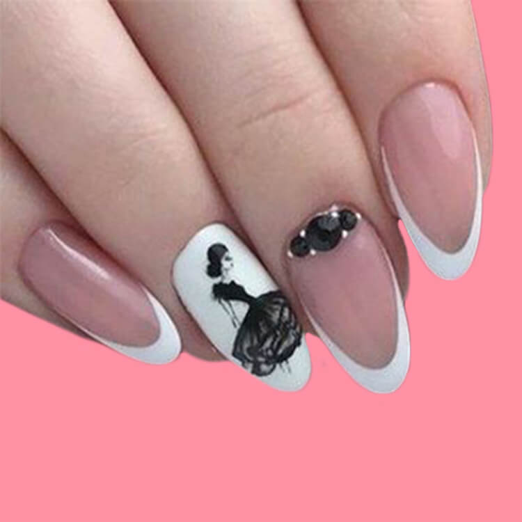 20+ Elegant Beauty Nails Acrylic Nail Designs to try 10