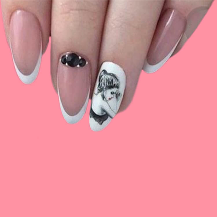20+ Elegant Beauty Nails Acrylic Nail Designs to try 11