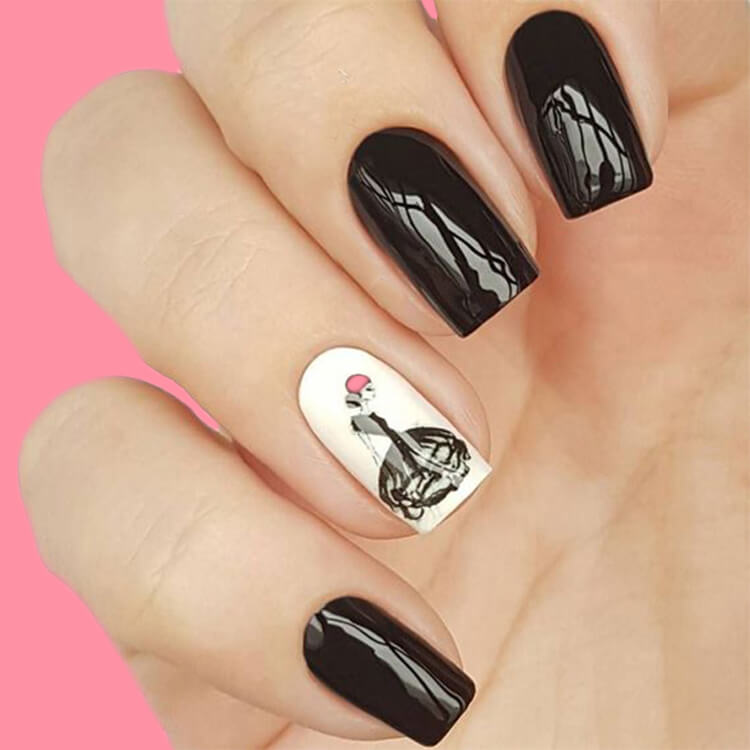 20+ Elegant Beauty Nails Acrylic Nail Designs to try 13