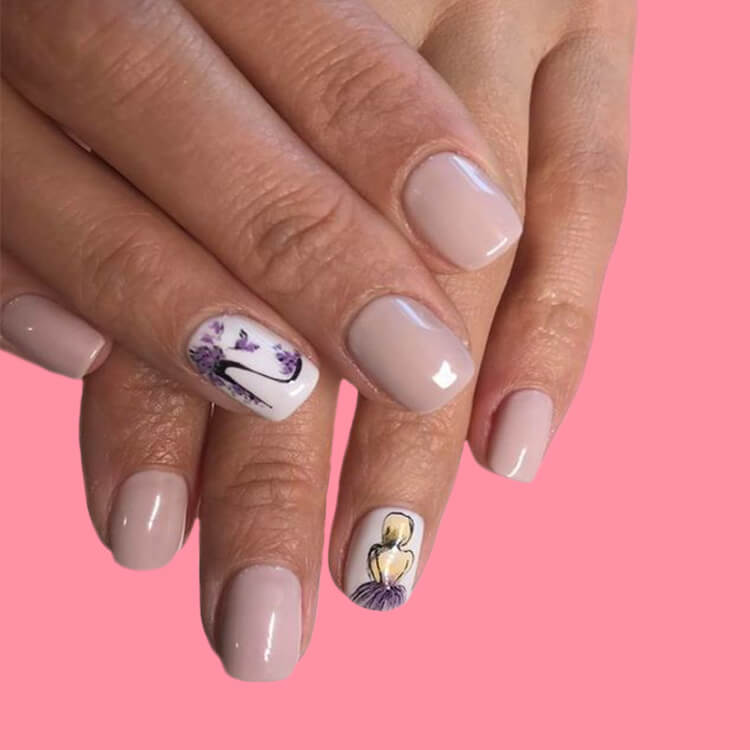 20+ Elegant Beauty Nails Acrylic Nail Designs to try 14