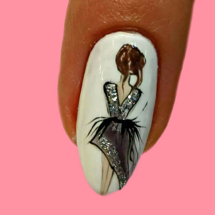 20+ Elegant Beauty Nails Acrylic Nail Designs to try 18