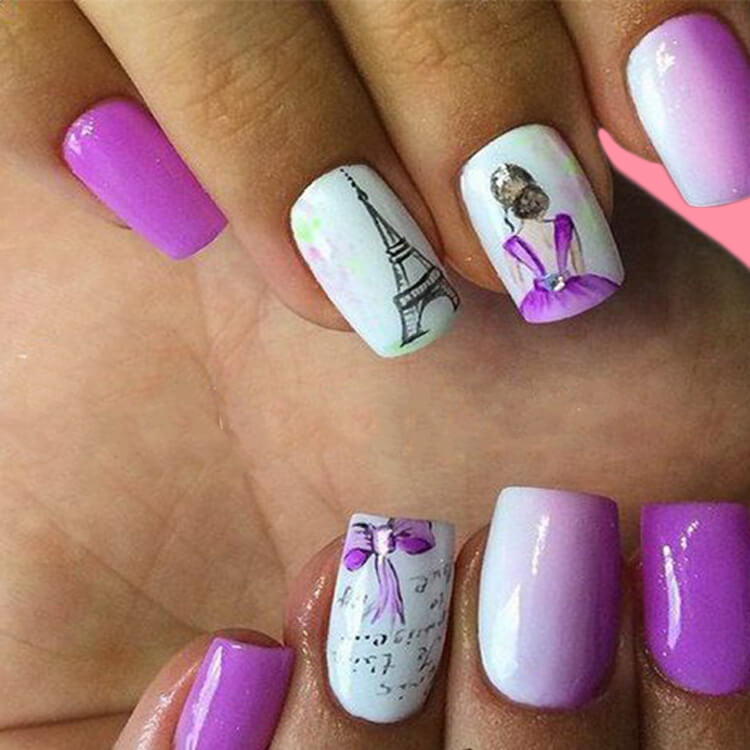 20+ Elegant Beauty Nails Acrylic Nail Designs to try 19