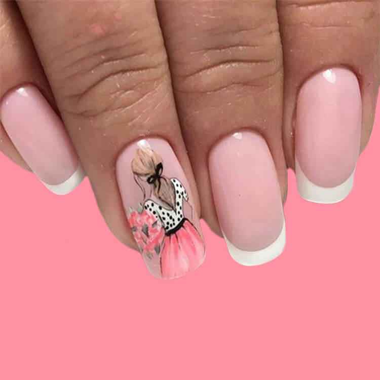 20+ Elegant Beauty Nails Acrylic Nail Designs to try 3
