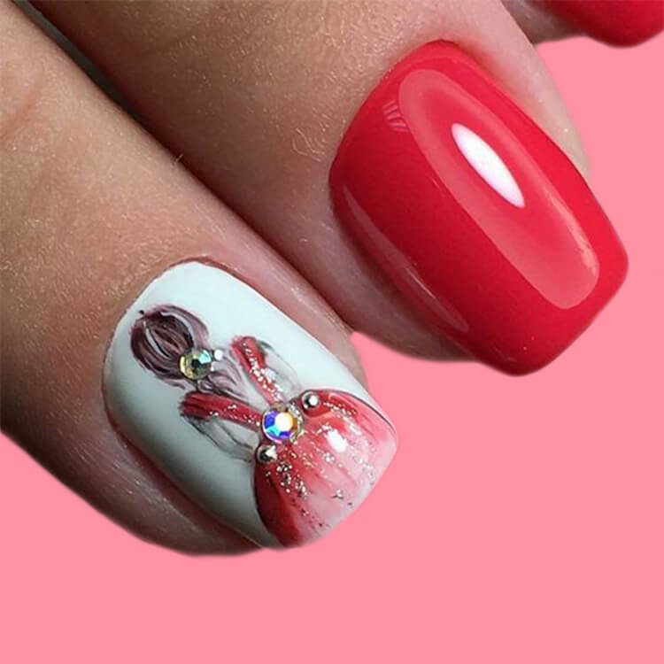 20+ Elegant Beauty Nails Acrylic Nail Designs to try 4