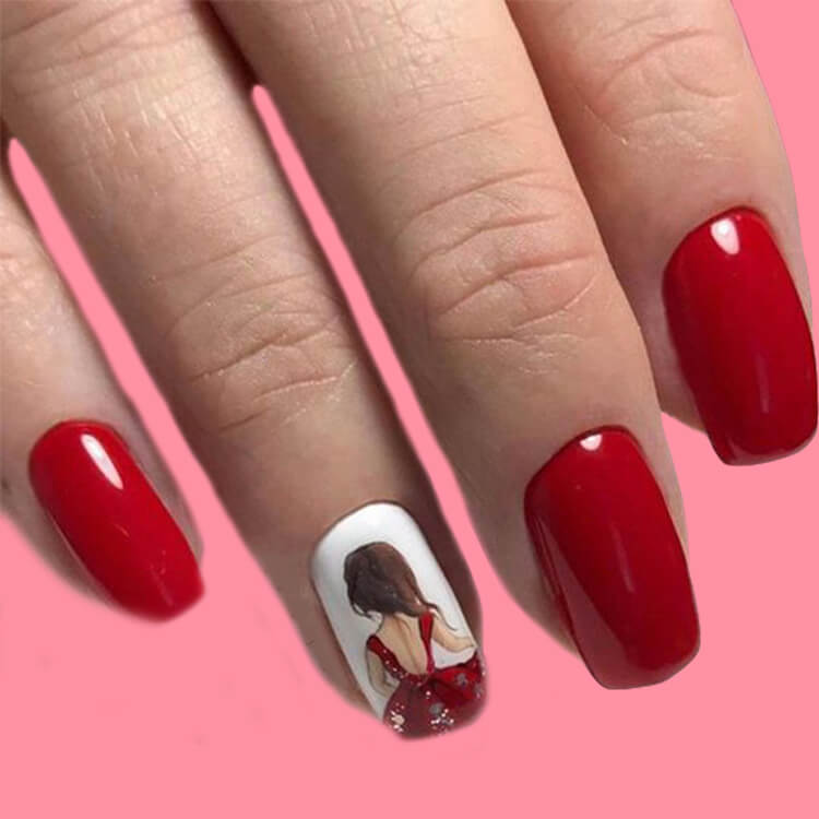 20+ Elegant Beauty Nails Acrylic Nail Designs to try 5