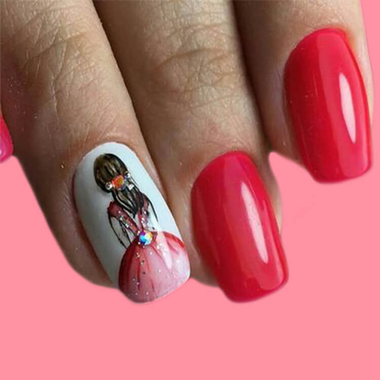 20+ Elegant Beauty Nails Acrylic Nail Designs to try 6
