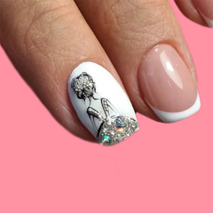20+ Elegant Beauty Nails Acrylic Nail Designs to try 7