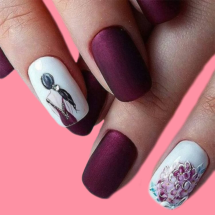 20+ Elegant Beauty Nails Acrylic Nail Designs to try 8