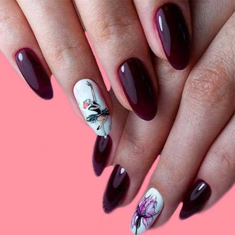 20+ Elegant Beauty Nails Acrylic Nail Designs to try 9