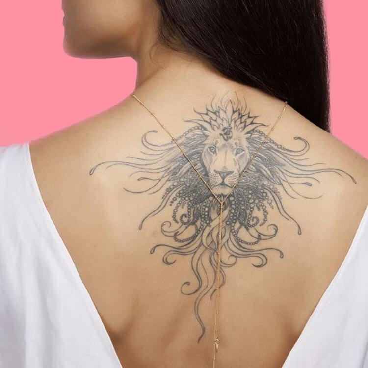 30+ Amazing Animal Back Tattoo designs to try 17
