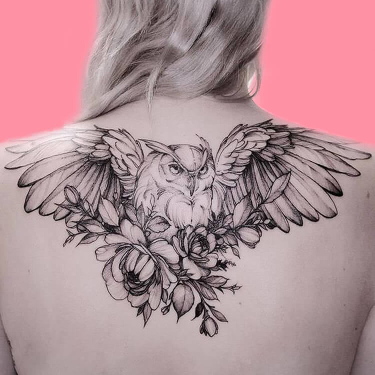 30+ Amazing Animal Back Tattoo designs to try 25